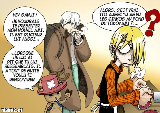 Fan-art : Ginko X Sanji et Chopper